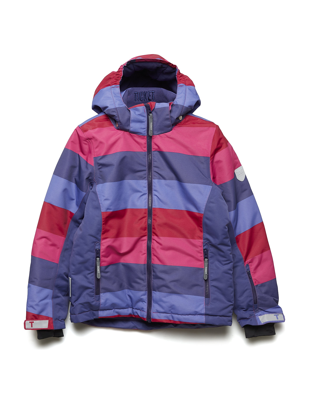 Ticket to Heaven Ski jacket Madison with detachable hood allover - Y/D STRIPE