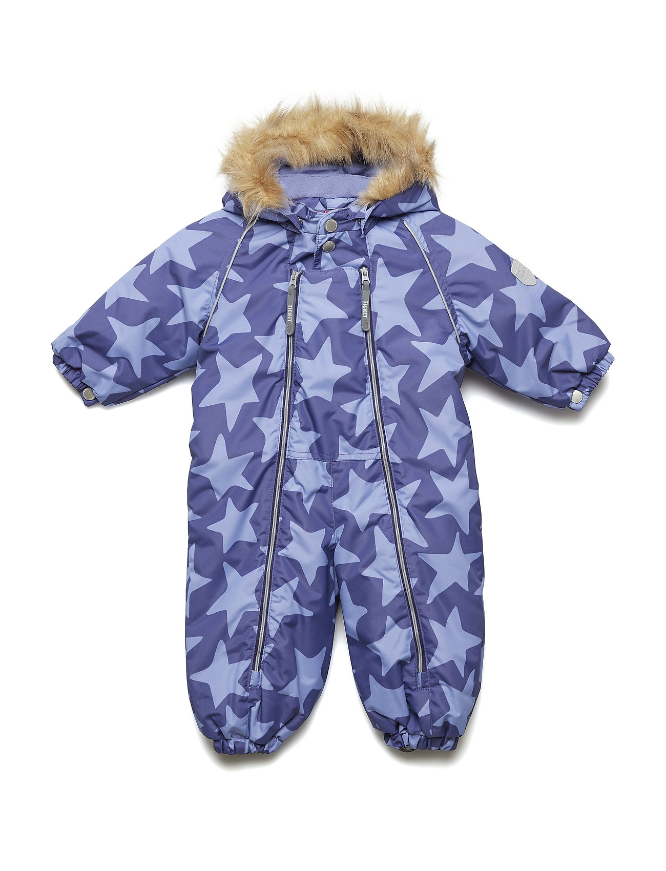 Ticket to Heaven Snowsuit Jules with detachable hood allover - DEEP WISTERIA