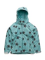 Jacket Mikaela with detachable hood DFJ allover - ANGEL BLUE / BLUE