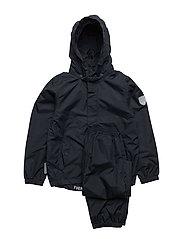Rain set 2pcs Plain with detachable hood - TOTAL ECLIPSE / BLUE