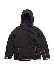 Madison jacket with detachable hood - JET BLACK