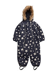 Baggie snowsuit with detachable hood allover - WINTER WHITE|WHITE
