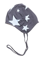 Knit Allover Hat With String - DELLA ROBBIA BLUE