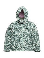 Jacket Mia with detachable hood allover - DUCK GREEN