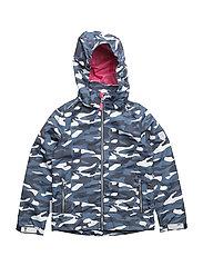 Jacket Lisa with detachable hood allover - MULTICOLOUR