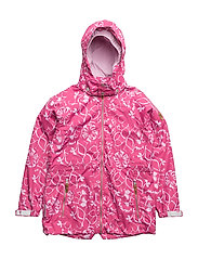 Jacket Kelly with detachable hood allover - MAGENTA