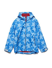 Jacket Ben with detachable hood allover - PRINCESS BLUE