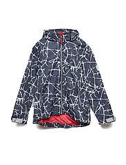 Jacket Ben with detachable hood allover - WHISPER WHITE