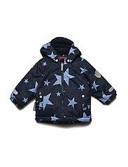 Jacket Klas with detachable hood allover - SILVER LAKE BLUE