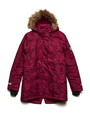 Parka Mary with detachable hood allover - RUMBA RED