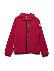 Jacket Softshell Jennifer 1/1 sleeves with detachable hood - BARBERRY