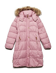 Long coat down Martha with detachable hood - WILD ROSE