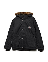 Ski Jacket Mall with detachable hood - JET BLACK