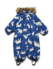 Snowsuit Baggie with detachable hood allover - BLUE LOLITE
