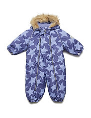 Snowsuit Jules with detachable hood allover - DEEP WISTERIA