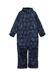 Snow suit Matti with detachable hood allover - TOTAL ECLIPSE