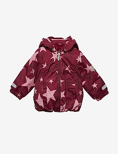 Jacket Althea with detachable hood allover - WILD ROSE