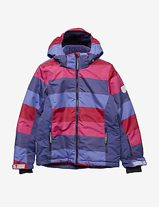 Ski jacket Madison with detachable hood allover - Y/D STRIPE