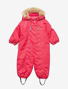 Snowsuit Baggie with detachable hood - BARBERRY