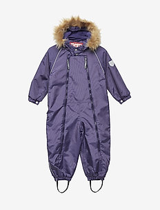 Suit snowbaggie with detachable hood - DEEP WISTERIA