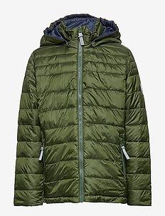 Jacket Lightweight Padding reversible Chris w. detach. hood - DUFFEL BAG-GREEN