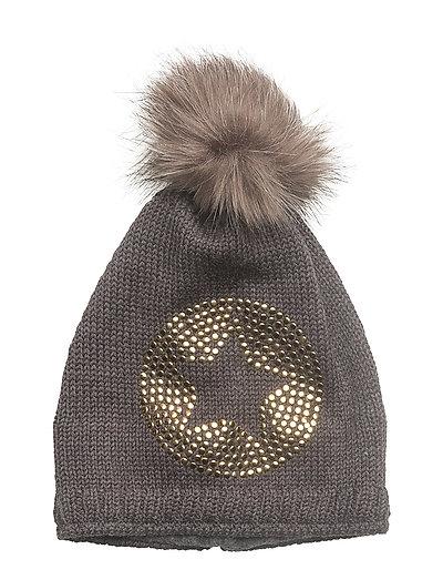 Bobble Knit Hat - ANTHRAZIT MELANGE