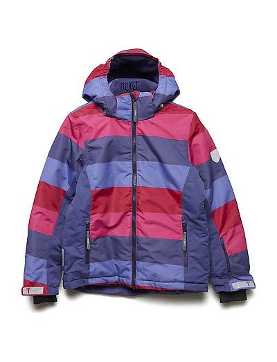 Ski jacket Madison with detachable hood allover - Y/D STRIPE