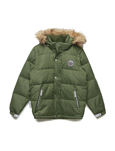 Jacket down Michelle with detachable hood - BLACK FOREST