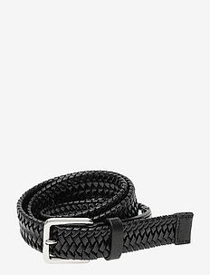 BRAIDANT - braided belts - black