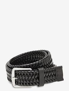 BRAIDANT - flettede belter - black