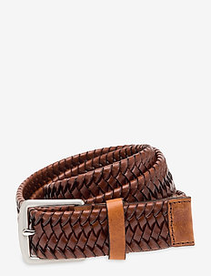 BRAIDANT - flettede belter - dark brown