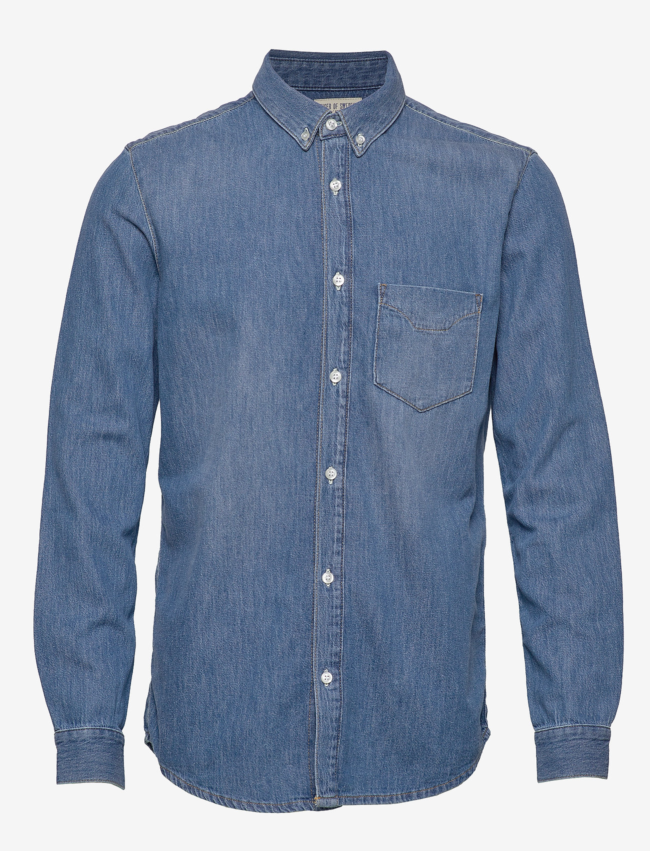 Tiger of Sweden Jeans - RIT - podstawowe koszulki - dust blue - 1