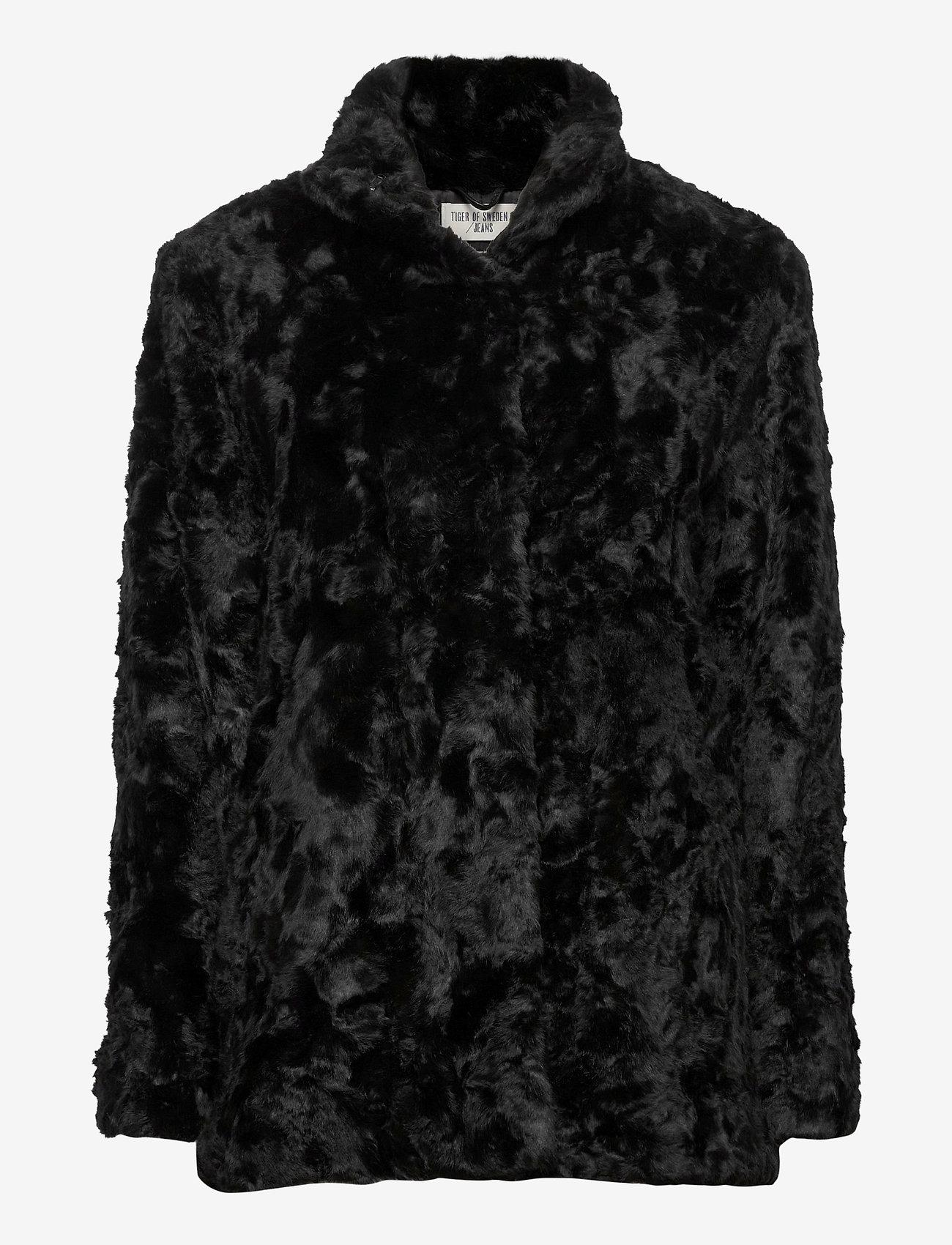 Tiger of Sweden Jeans - MINIMAL. - faux fur - black - 0