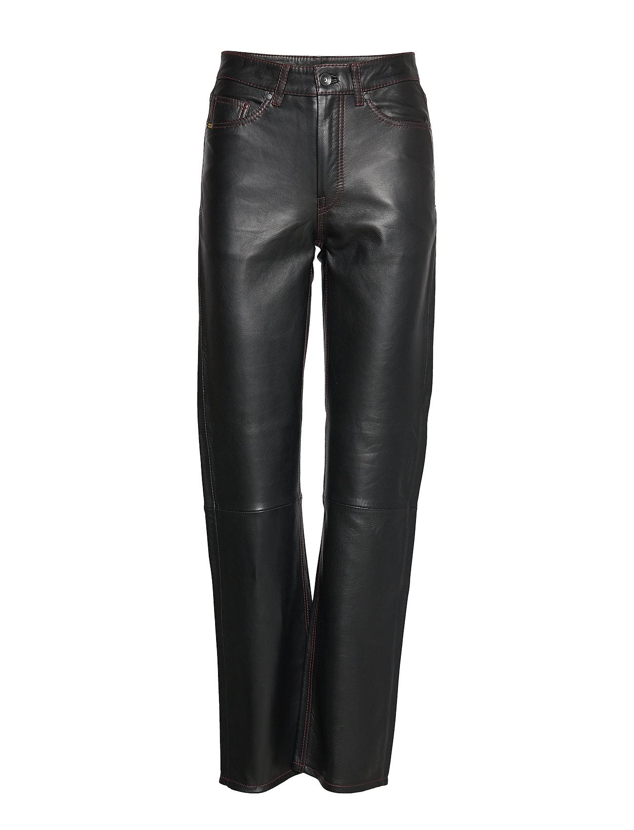 Image of Franky L Leather Leggings/Bukser Sort TIGER OF SWEDEN JEANS (3206553083)