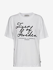 Tiger of Sweden Jeans - STERNA PR - logo t-shirts - white - 0