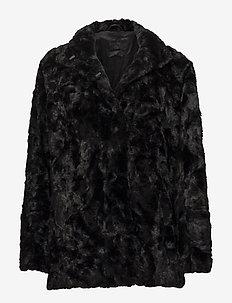 MINIMAL. - faux fur - black