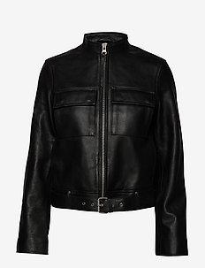 KITTEN - vestes en cuir - black