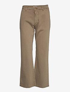 EIRIA - spodnie szerokie - sand