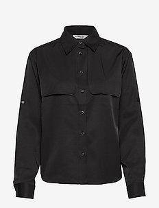DRILL - long sleeved blouses - black