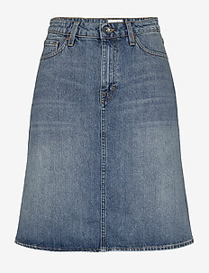 LIZ - denim skirts - medium blue
