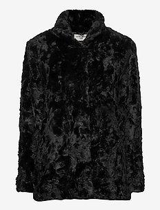MINIMAL. - sztuczne futro - black