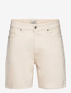 JIN - denim shorts - ecru denim
