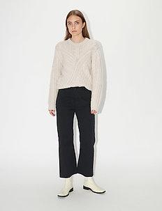 EIRIA - spodnie szerokie - black