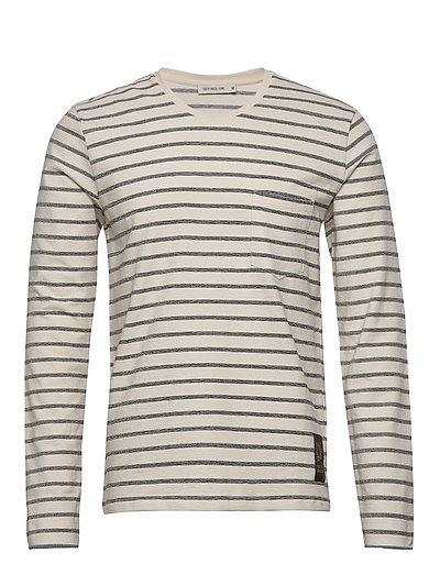 Salk Str T-Langärmliges Hemd Creme TIGER OF SWEDEN JEANS