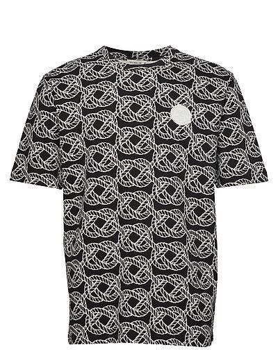 Ton Aop T-Shirt Schwarz TIGER OF SWEDEN JEANS