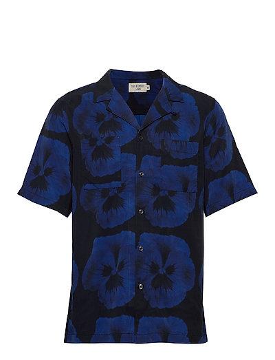 Calumn P Kurzärmliges Hemd Blau TIGER OF SWEDEN JEANS