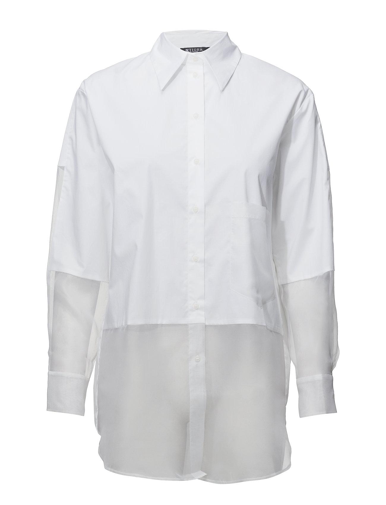 97c4d76c7a9 Tiger of Sweden langærmede skjorter – Kakia til dame i BRIGHT WHITE ...