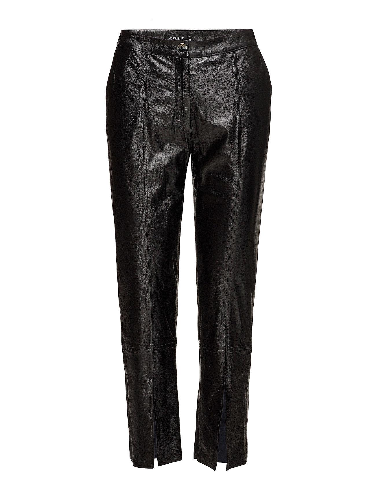 Image of Sol Leather Leggings/Bukser Sort TIGER OF SWEDEN (2845971621)