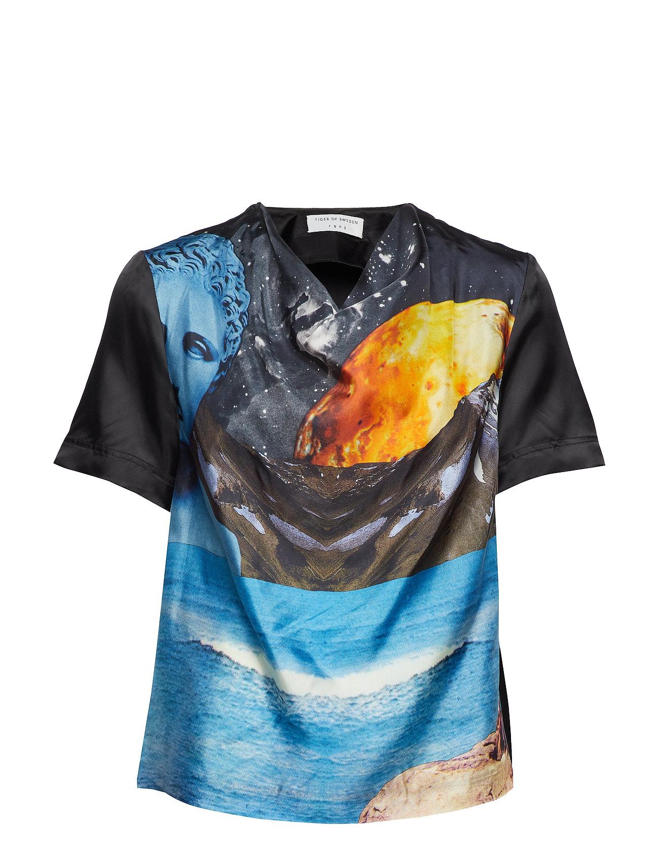 TIGER OF SWEDEN Troyes T-Shirt Top Bunt/gemustert TIGER OF SWEDEN