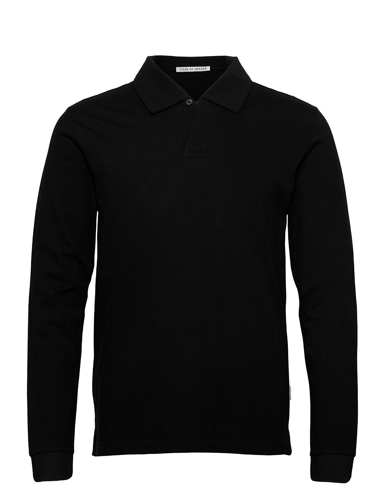 Image of Aderico Ls Polos Long-sleeved Sort Tiger Of Sweden (3445900373)